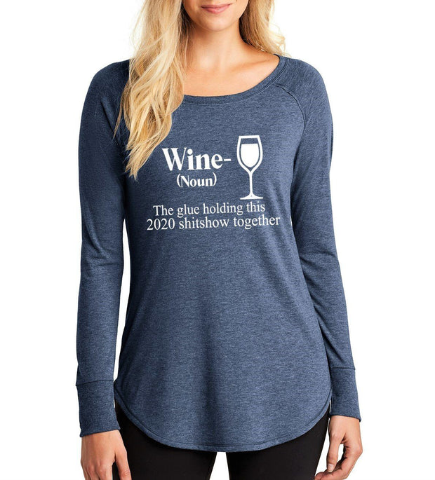 """WINE"" Stylish Long-Sleeve Tee"