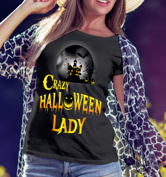 """Crazy Halloween Lady And Queen of Halloween -Pack of 2"""