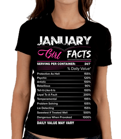 """January Girl Facts"""