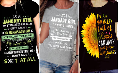 """January Pack Of 3 Shirts"""