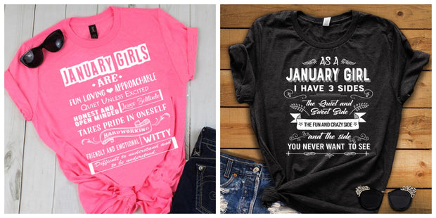 """January -Fun Loving And 3 Sides-Pack of 2"""