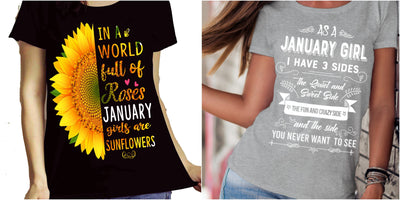 """January Combo (Sunflower And 3 Sides)"" Pack of 2 Shirts"