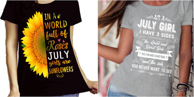 """July Combo (Sunflower And 3 Sides)"" Pack of 2 Shirts"