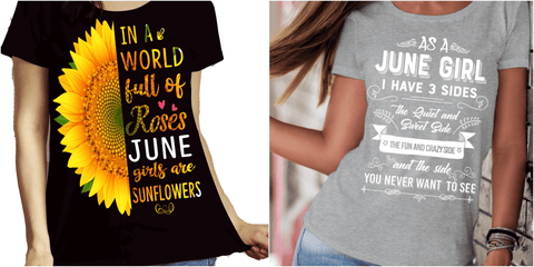 """June Combo (Sunflower And 3 Sides)"" Pack of 2 Shirts"