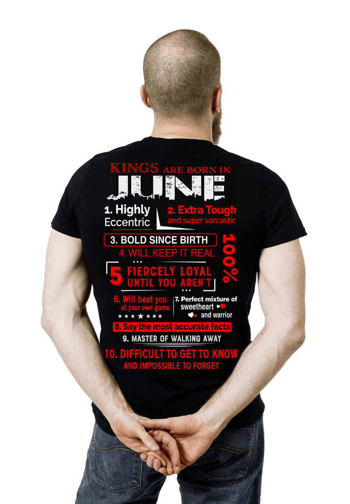 Kings Are Born In June 50 Off TodayCustom Birthday Shirt NewYork Company
