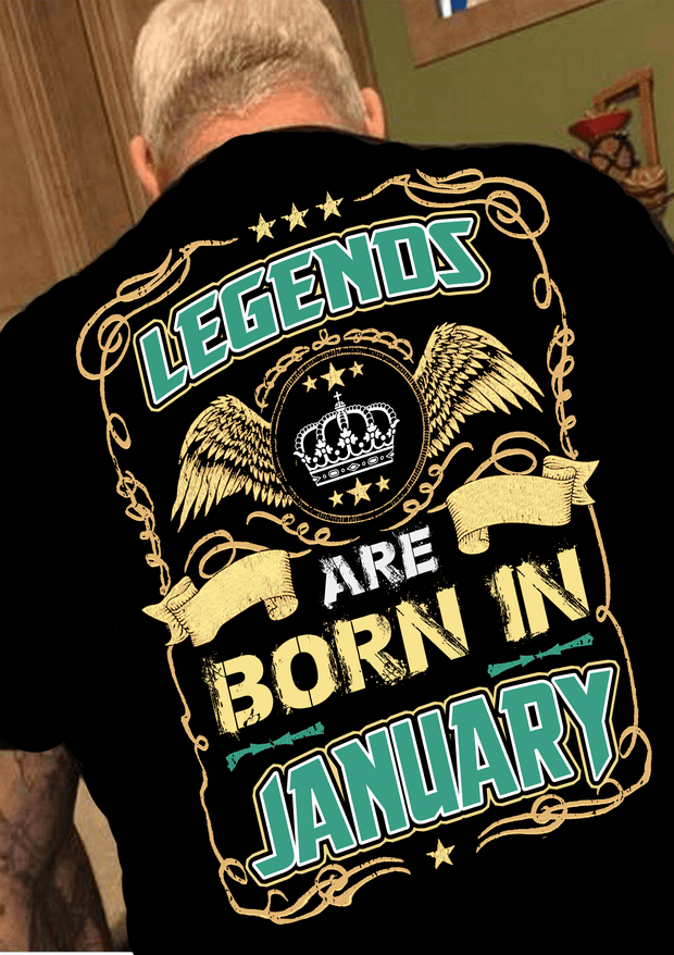 """Legends Are Born In January""(50% Off Today)Custom Birthday Shirts"