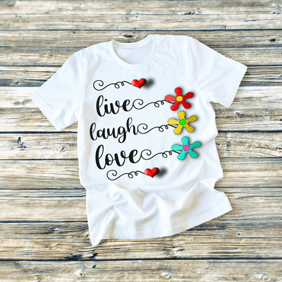 """LIVE LAUGH"" T-SHIRT"