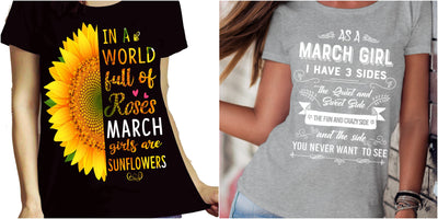 """March Combo (Sunflower And 3 Sides)"" Pack of 2 Shirts"