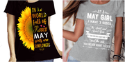 """May Combo (Sunflower And 3 Sides)"" Pack of 2 Shirts"
