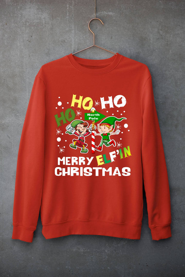 """MERRY ELF'IN CHRISTMAS""- Hoodie & Sweatshirt."