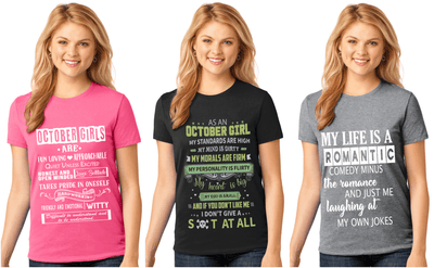 """October Pack Of 3 Shirts Combo -2"""