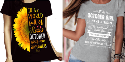 """October Combo (Sunflower And 3 Sides)"" Pack of 2 Shirts"