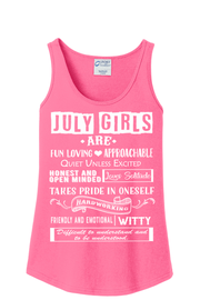 """JULY GIRLS ARE FUN LOVING, APPROACHABLE, QUIET UNLESS EXCITED"""
