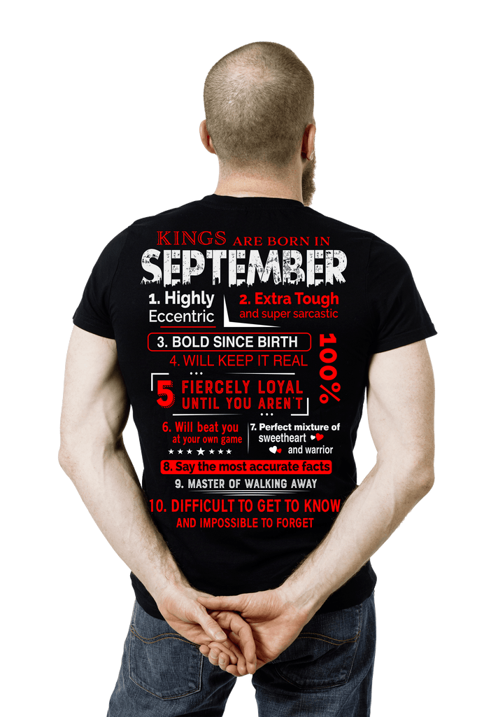 Kings Are Born In September 50 Off TodayCustom Birthday Shirts NewYork Shirt Company