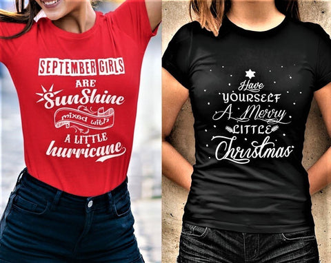 """2 Awesome Designs Combo- September Sunshine + Merry Little Christmas""."