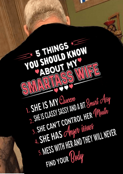 """5 Things You Should Know About My Smartass Wife"" Mens"