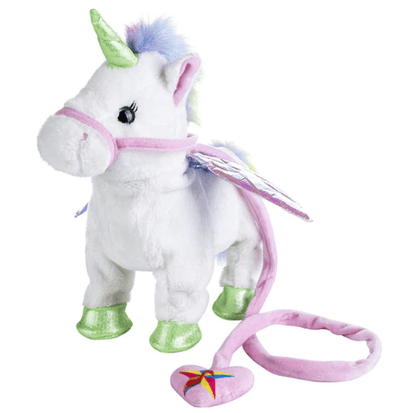 """35cm Electric Walking Unicorn Toy, Stuffed Toy with Electronic Mussic Toy  for Children"""