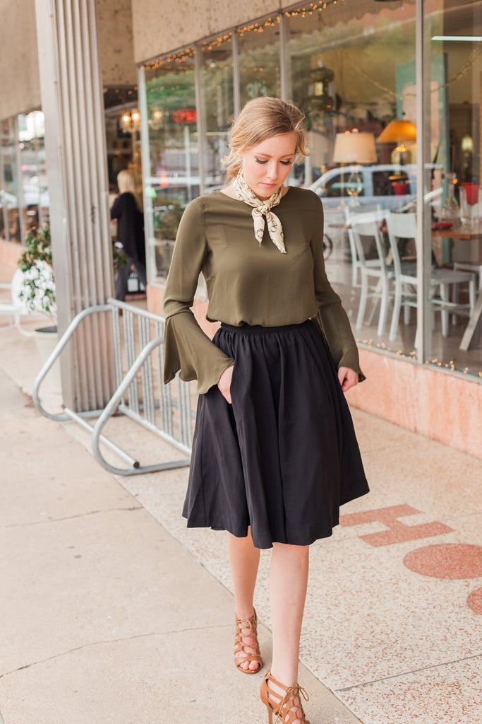Olive Bell Sleeve