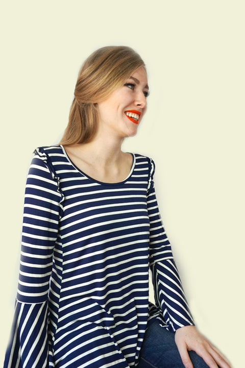Isla Stripe Blouse - Everly Oak Preppy Fashion