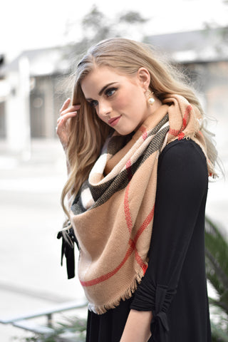 British Plaid Scarf - Everly Oak Preppy Fashion
