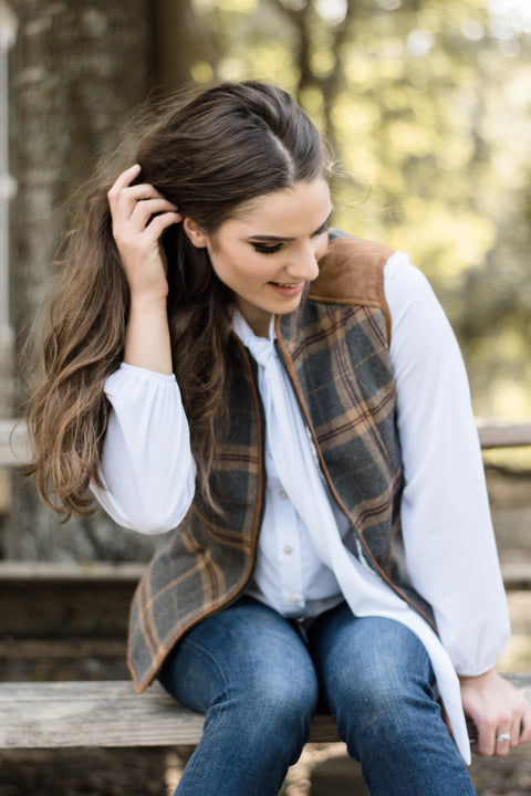 Plaid Vest - Everly Oak Preppy Fashion