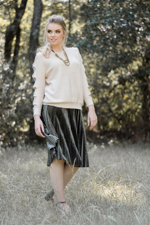 Olive Skirt - Everly Oak Preppy Fashion