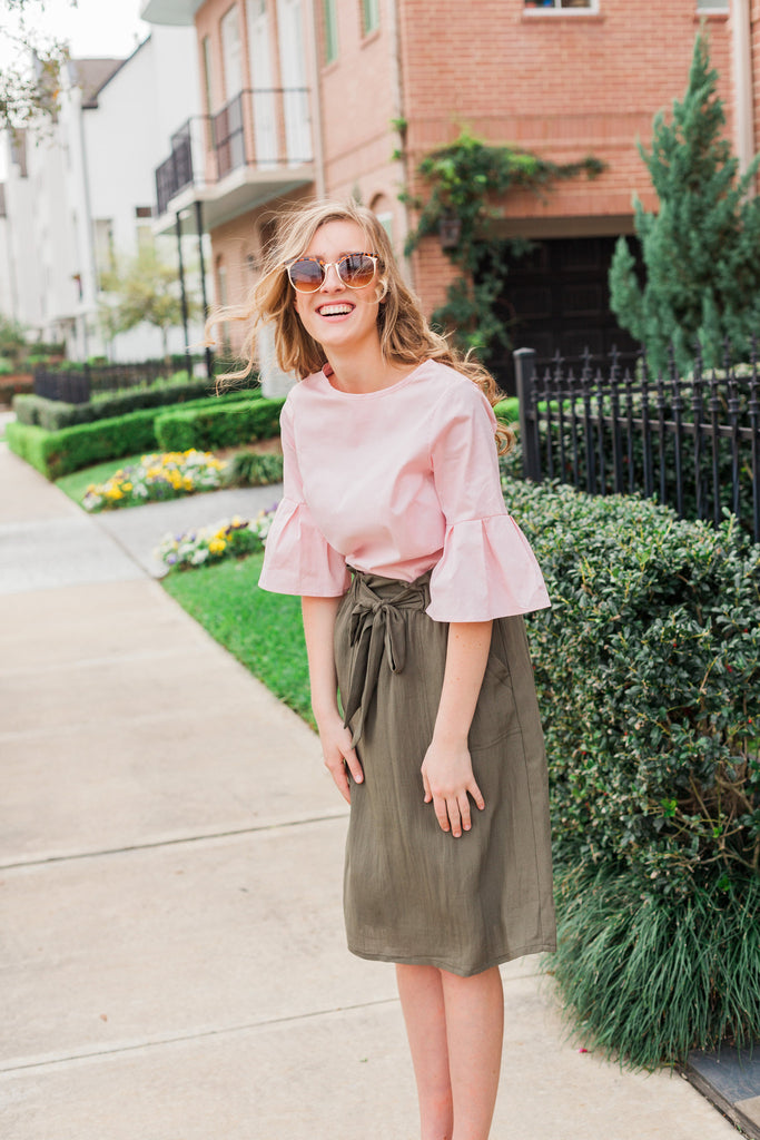 Bell Sleeve Blouse - Everly Oak Preppy Fashion
