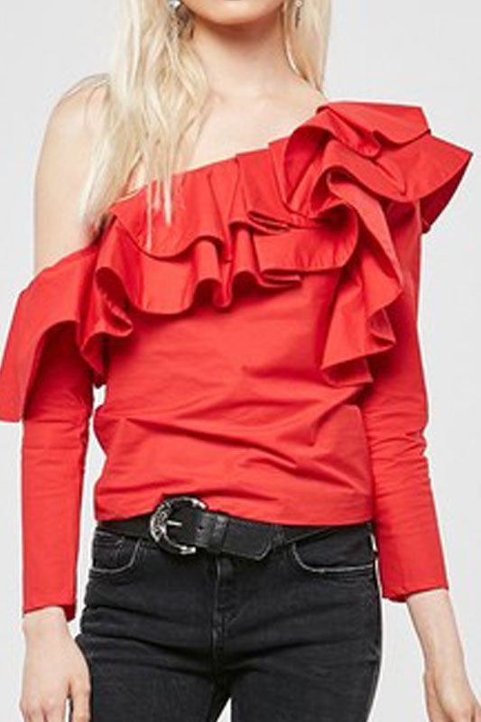 Mandy Ruffle Blouse