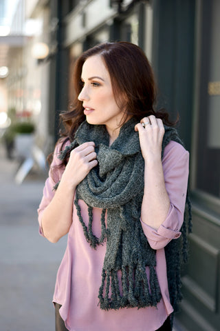 Austin Scarf Moss - Everly Oak Preppy Fashion