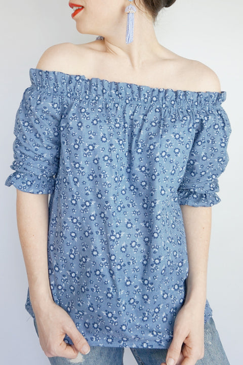 Dottie Blouse - Everly Oak Preppy Fashion