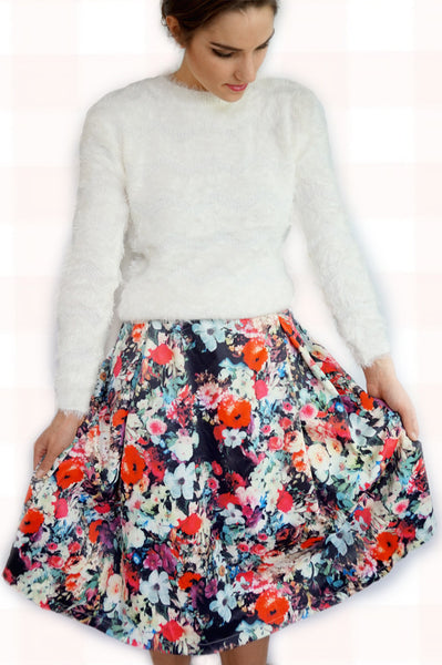 Fiona Floral Skirt - Everly Oak Preppy Fashion
