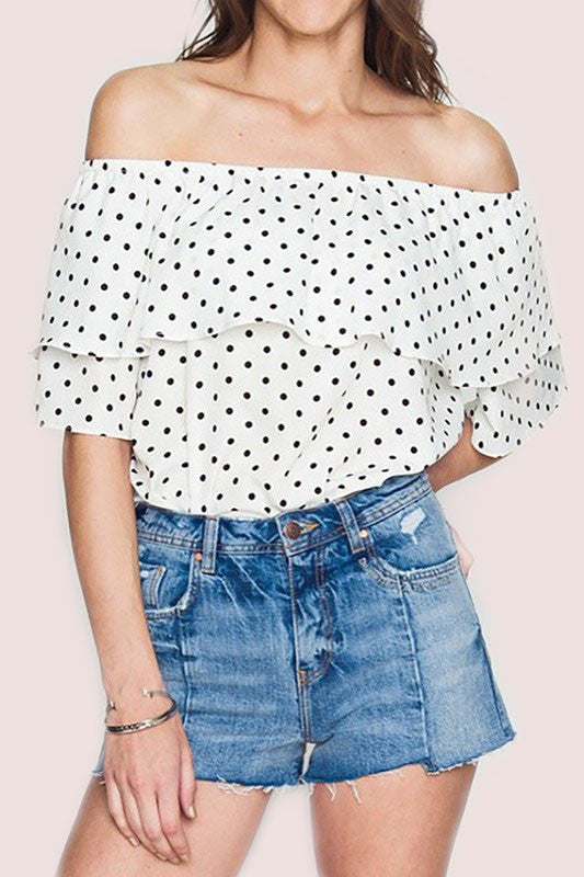 Polka Dot Blouse - Everly Oak Preppy Fashion