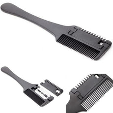 1 Pcs Quality Professional Hair Razor Comb Black Handle