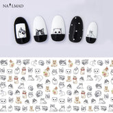 1 sheet Cat Water Transfer Nail Stickers
