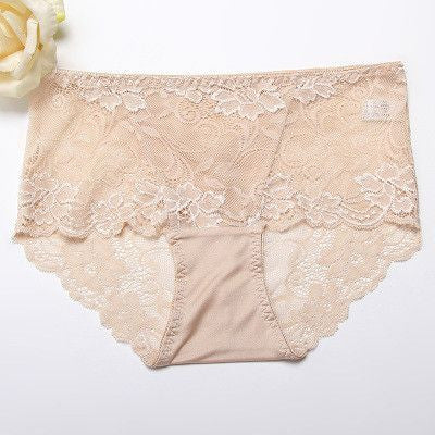 100% Natural silk Lace Seamless Sexy underwear