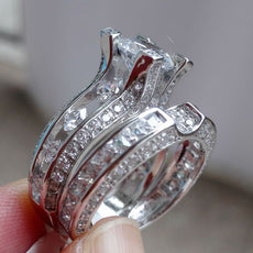 2.3 Ct Round Cut CZ Genuine 925 Sterling Silver Wedding Ring