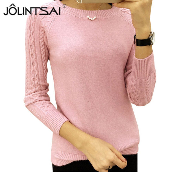 6 Colors Sweaters Women O-neck Long Sleeve  Pullovers Knitted Sweater - Fashion Cornerstone