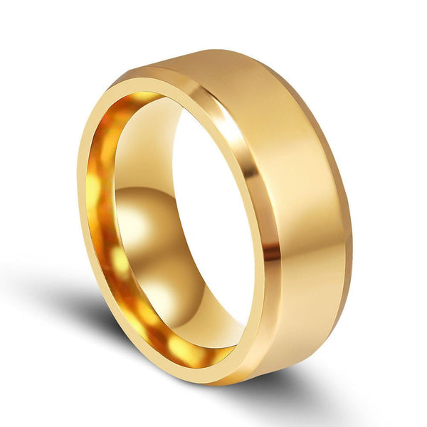 6mm & 8mm Titanium Band Brushed Wedding Ring - Fashion Cornerstone