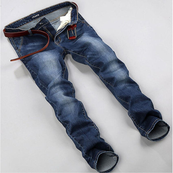 Blue Elastic Men Jeans - Fashion Cornerstone