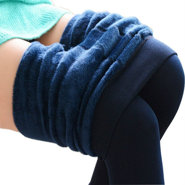 Casual Warm Winter Bright Velvet Knitted Thick Leggings - Fashion Cornerstone