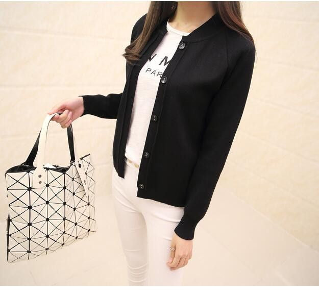 Casual Women's Spring Autumn Cardigan Long Sleeve