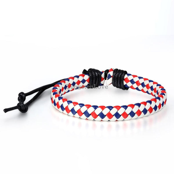 Colours Rope Surfer Leather Braided Bracelets - Fashion Cornerstone