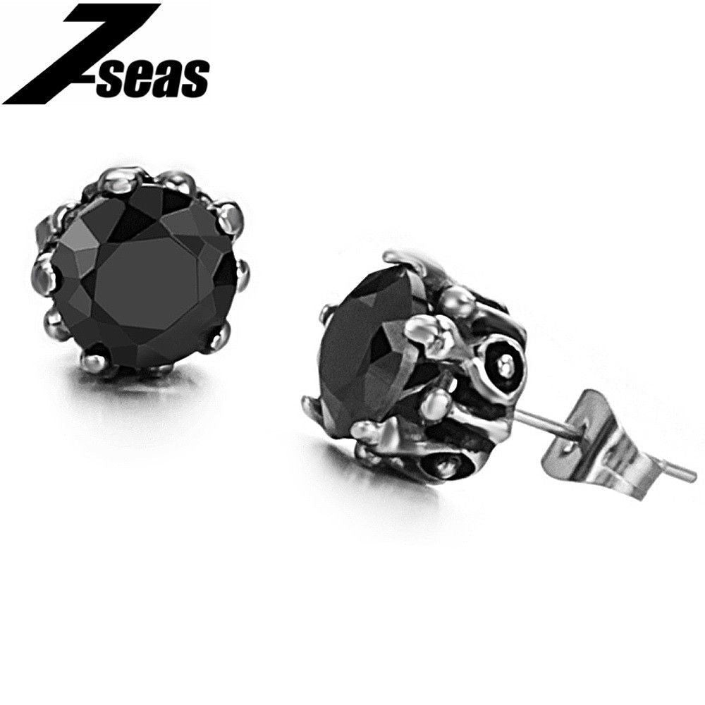 Crystal Ball Woman's Stud Earring 316L Stainless Steel