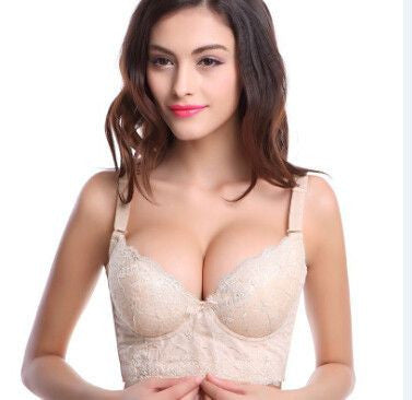 Deep V adjustment type bras five hook-and-eye
