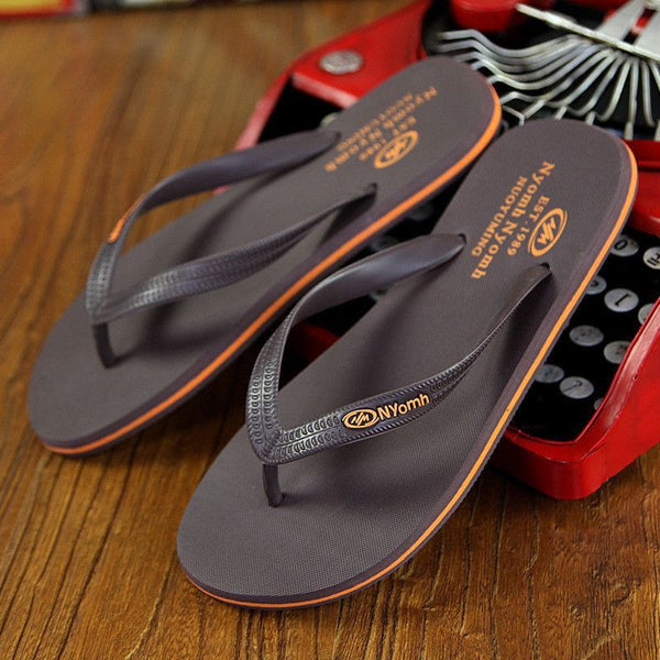 Flip Flops Rubber Male Slippers Summer-Mens Shoes-Fashion Cornerstone