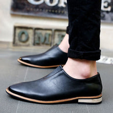 Genuine Leather Men Loafers Top Flat Shoes