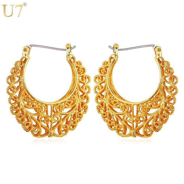 Gold Plated Vintage Earring-Hoop-Fashion Cornerstone