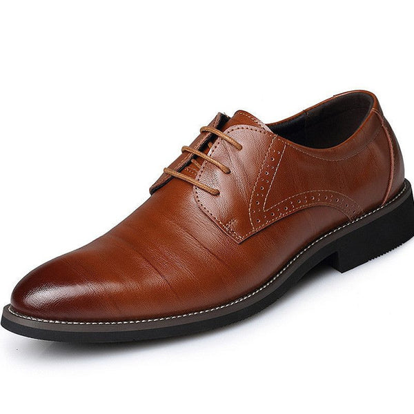 Leather Dress Shoes Wedding Shoes Breathable Business Shoes-Mens Shoes-Fashion Cornerstone