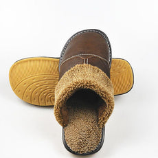 Leather Home Slippers Men Indoor\ Floor Outdoor