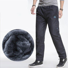 Men's Trousers Winter Waterproof Slim Fitted Sweatpants